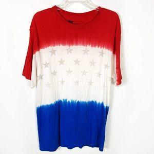 Levi's Tie Dye USA T-Shirt Stars Patriotic Red XL